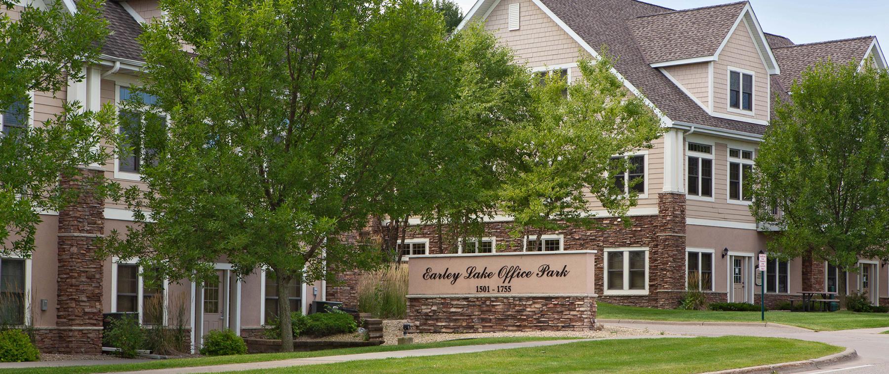 Earley Lake Office Park Burnsville MN monument view